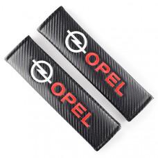 "Накладки на ремень безопасности ""Opel"" (карбон)"
