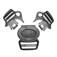 Фастекс для 5-точечных ремней с карабинами