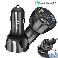 Автомобильное зарядное устройство на 3 USB порта Quick Charge 3,0
