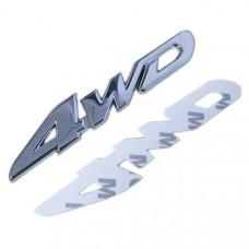 "Хромированная 3D эмблема ""4WD"""