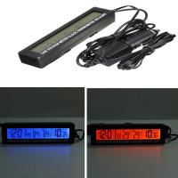 Термометр с часами и подсветкой для автомобиля