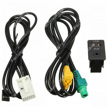 Кабель AUX и USB для BMW