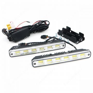 Универсальные дневные ходовые огни 6 LED-COB (комплект)