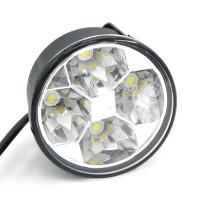 Круглые светодиодные дневные ходовые огни 4 LED (2 шт)