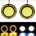 Круглые дневные ходовые огни с поворотом (2 шт)