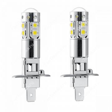 Светодиодная лампа H1 10хCREE + Линза (2 шт)