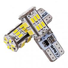 Светодиодные лампы Canbus T10 (W5W) 30-SMD 3014 со строб вспышкой (2 шт)