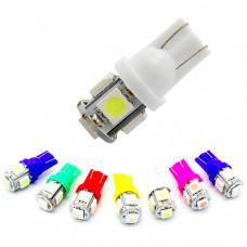 Светодиодные лампы T10 5хSMD 5050 (10 шт)