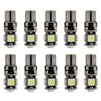 Светодиодные лампы T10 5хSMD 5050 с обманкой (10 шт)
