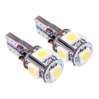 Светодиодные лампы T10 (W5W) 5-SMD 5050 со строб вспышкой (2 шт)