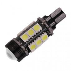 Светодиодная лампа Canbus T15 15xSMD5050 + линза