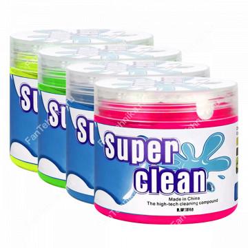 Гелевый очиститель Super Clean для удаления пыли, грязи в труднодоступных местах (160 г)