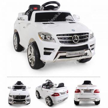 Электромобиль Mercedes-Benz ML350, джип с резиновыми колёсами и магнитолой