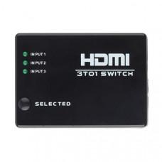 HDMI коммутатор-свитчер (switch) 3х1 с пультом