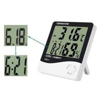 Настольные часы с гигрометром и термометром