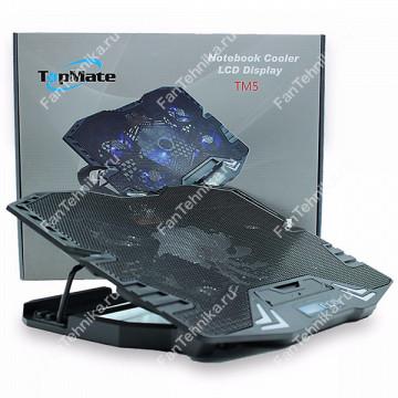 "Охлаждающая подставка TopMate TM5 для ноутбука 12-15.6"" с LCD дисплеем"