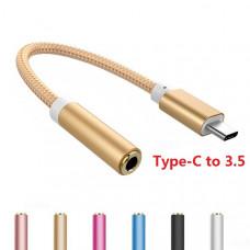 Переходник (адаптер) с USB Type-C на mini jack 3.5 мм