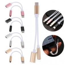 Переходник USB Type-C (M) / Jack 3.5мм (F) + Type-C (F)