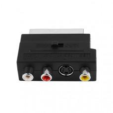 Переходник SCART - 3 RCA+SVHS (с переключателем)