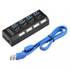 USB-хаб на 4 порта с выключателями