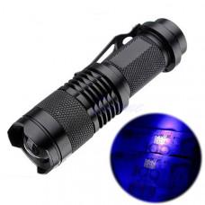 Ультрафиолетовый фонарик с линзой (395 nm)