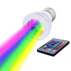 Светодиодная RGB лампа с пультом Е27/220 В