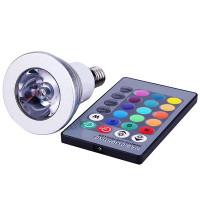 Светодиодная RGB лампа с пультом E14 / 220 В