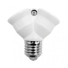 Разветвитель для ламп E27 на 2 патрона
