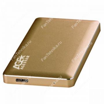 Внешний корпус для HDD AGESTAR 3UB2A16, золотистый