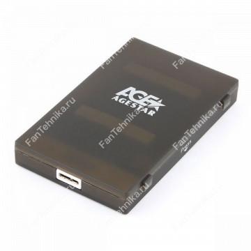 Внешний корпус для HDD/SSD AGESTAR 3UBCP1-6G, черный