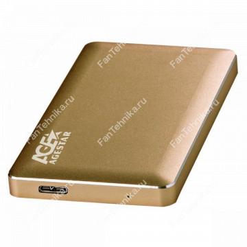 Внешний корпус для HDD AGESTAR 31UB2A16, золотистый
