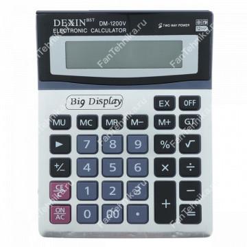 Настольный 12-разрядный калькулятор с двойным питанием и большим дисплеем DM-1200V
