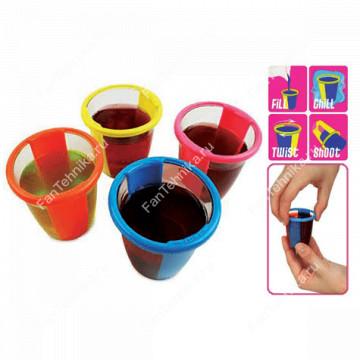 Набор из 12-ти стаканов для приготовления желе GEL SHOT CUPS
