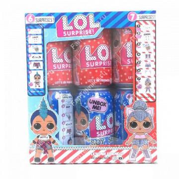 Набор кукол LOL Surprise в баночках cola, 6 шт