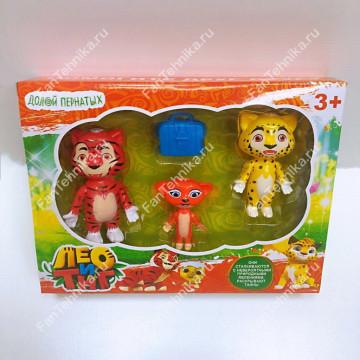 Лео и Тиг набор из 3 фигурок (Лео, Тиг, Мила)