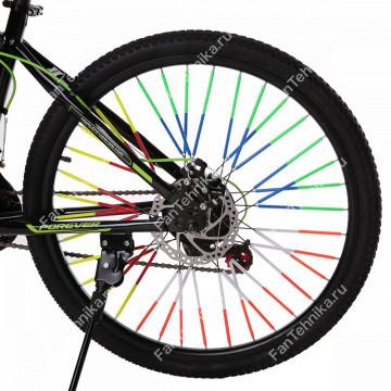 Светоотражающие трубки для велосипедных спиц, 12 шт