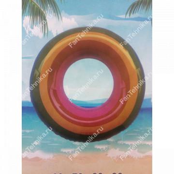 Радужный надувной спасательный круг, 70 см