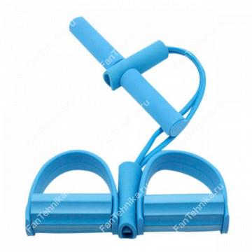Универсальный эспандер с ручками и упорами для ног, 2 трубки