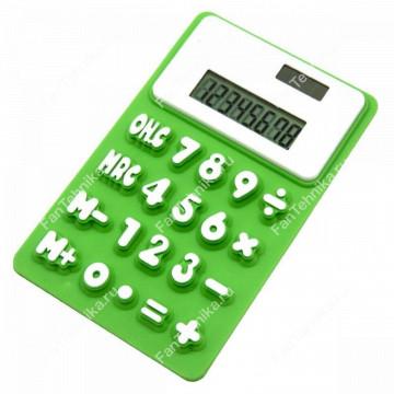 Силиконовый гибкий 8-разрядный калькулятор на магните №256