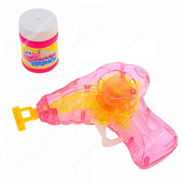 Светящийся пистолет для выдувания мыльных пузырей