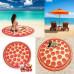 Махровое круглое пляжное полотенце, 150 см