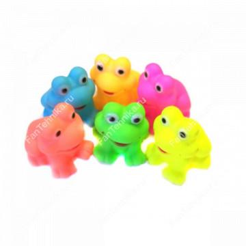 Набор виниловых игрушек-пищалок Лягушата, 6 шт