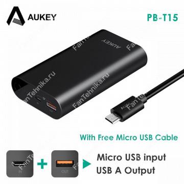 Внешний аккумулятор Aukey PB-T15 + QC3.0 (10000 мАч)