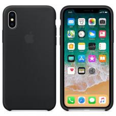 Силиконовый чехол для Apple iPhone X (Черный)