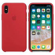 Силиконовый чехол для Apple iPhone X (Красный)
