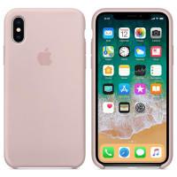 Силиконовый чехол для Apple iPhone X (Розовый)