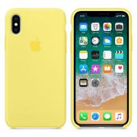 Силиконовый чехол для Apple iPhone X (Желтый)