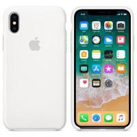 Силиконовый чехол для Apple iPhone X (Белый)