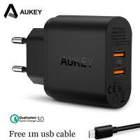 Сетевой адаптер Aukey PA-T16 2хUSB
