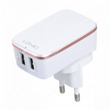 Сетевой блок питания LDNIO A2204 (2 USB, 2.4A)